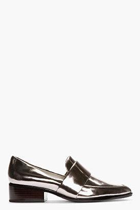 3.1 Phillip Lim Gunmetal Patent Leather Quinn Loafers
