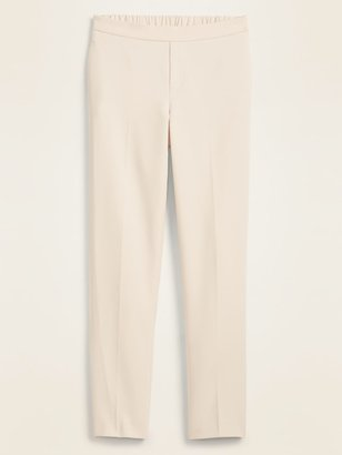 Old Navy Mid-Rise Pull-On Double-Weave Straight-Leg Pants for Women