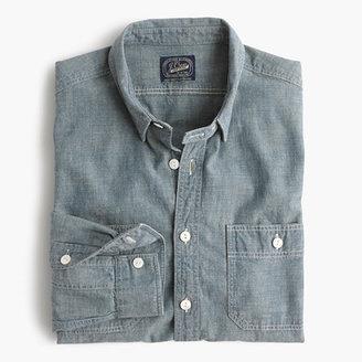 J.Crew Slim selvedge Japanese chambray utility shirt