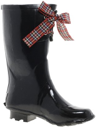JuJu Black Wellies with Bow Detail