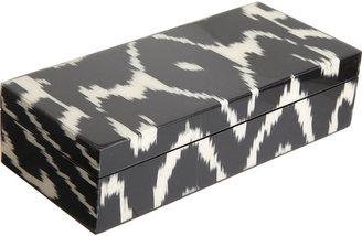 Madeline Weinrib Graphite Mor Ikat Pencil Box