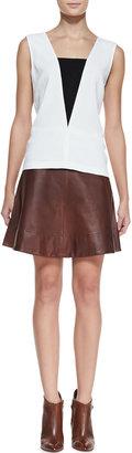 A.L.C. Stevenson Leather Skirt