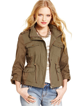 American Rag Mixed-Media Military Parka, Only at Macy's $99.50 thestylecure.com