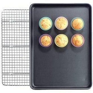 Chicago Metallic Nonstick Half Sheet Pans and Cooling Grid Set