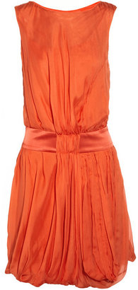 Alberta Ferretti Gathered silk-chiffon dress