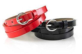 Nine West 2-pc. Patent Belt Duo - Black Red