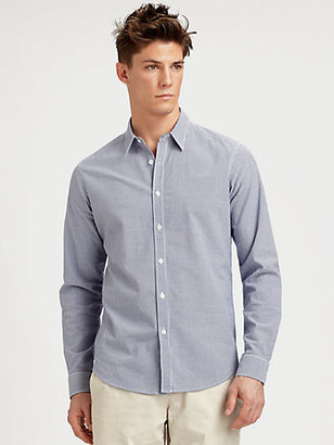 Theory Striped Cotton Sportshirt