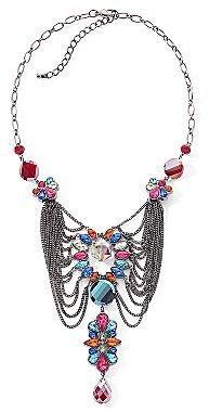 JCPenney Multi-Color Multi-Chain Bib Necklace