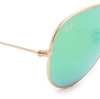 Ray-Ban Mirrored Matte Classic Aviator Sunglasses