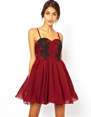 Fake Bake Rare Opulence Lace Applique Prom Dress