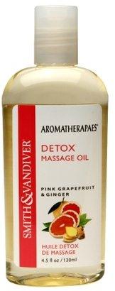 Aromatherapaes Detox Massage & Bath Oil Pink Grapefruit & Ginger 4.5oz.