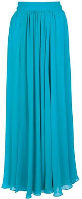 Balmain Pierre pleated maxi skirt