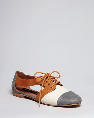 Steve Madden STEVEN BY Lace Up Oxford Flats - Caril