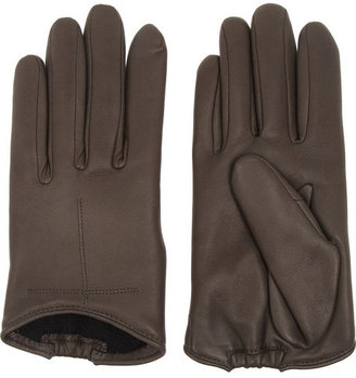 Givenchy Short gloves in dark-gray leather
