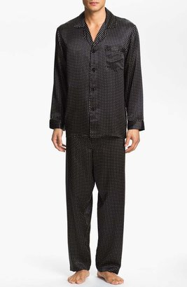 Majestic International Dot Silk Pajamas