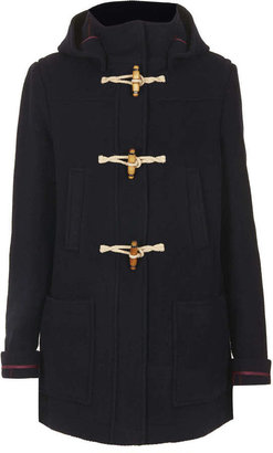 Topshop Wool Hooded Duffle Coat