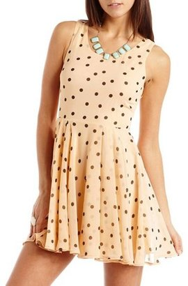 Charlotte Russe Polka Dot Chiffon A-Line Dress