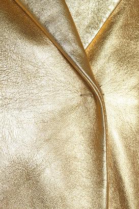 Marni Metallic textured-leather jacket