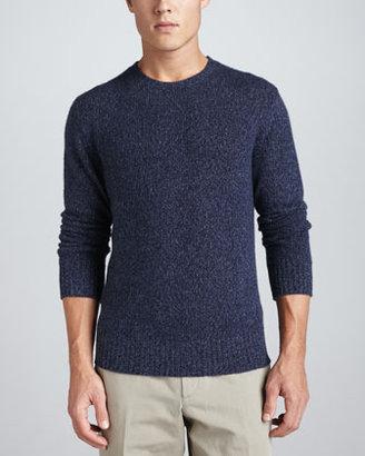 Loro Piana Girocollo Cashmere Crew Neck Sweater, Navy