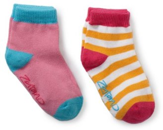 Zutano Baby-Girls Infant Two Pack Anklet Socks