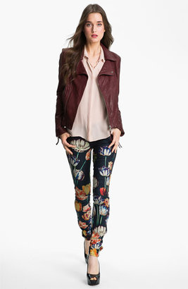 Mother 'The Looker' Print Skinny Jeans (Kissed Me Floral)