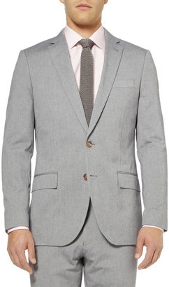 J.Crew Blue Ludlow Cotton-Oxford Suit Jacket