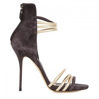 Casadei Metallic suede and leather sandals