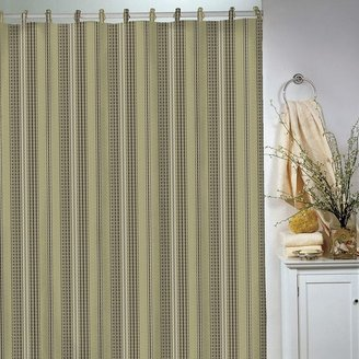 B. Smith Park waffle-striped shower curtain