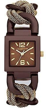 Liz Claiborne Goldtone & Brown Watch