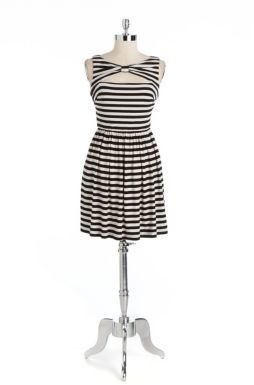 Betsey Johnson Striped Fit and Flare Dress