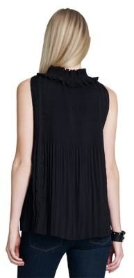Jones New York Collection Pleated Blouse with Smoking Details