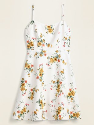 Old Navy Floral Linen-Blend Fit & Flare Cami Sundress for Women