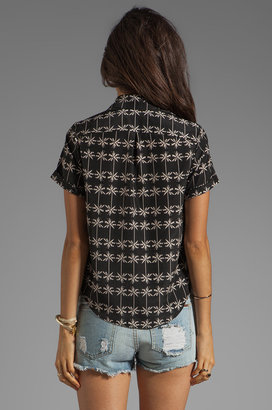Dolce Vita Martine Palm Tree Print Top
