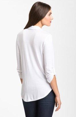 Pleione Mixed Media Shirt (Regular & Petite)