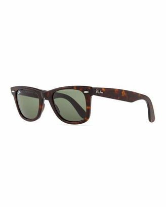 Ray-Ban Classic Wayfarer Sunglasses, Tortoise/Green Lens $150 thestylecure.com