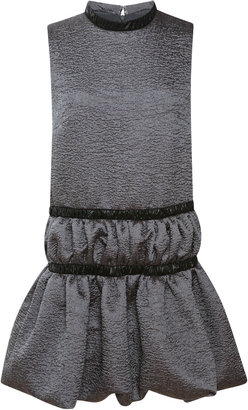 Christopher Kane Ruched Round Neck Dress