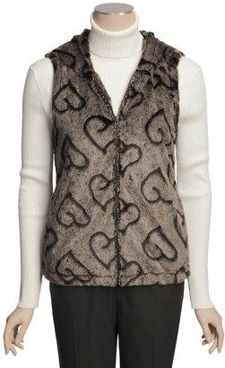 True Grit Silky Faux Fur Crush Vest - Lined, Hooded (For Women)