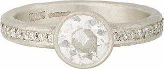 Malcolm Betts Women's Diamond & Hammered Platinum Ring - Platinum