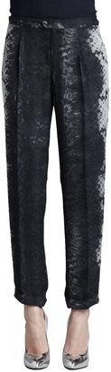 Haute Hippie Snake-Print Trousers