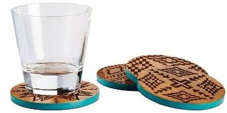 Pendleton Set Of 4 Acacia Wood Coasters