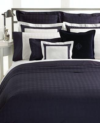 Lauren Ralph Lauren CLOSEOUT! Bedding, Glen Plaid King Flat Sheet