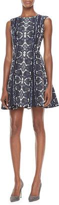 Nanette Lepore Love Bites Snake-Print Dress