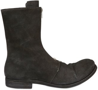 A Diciannoveventitre Front Zipped Calf Crust Boots