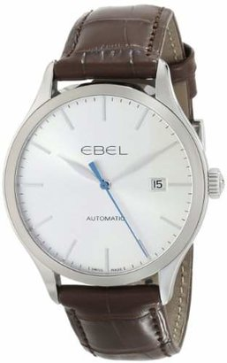 Ebel Men's 1216088 100 Stainless Steel Automatic Watch with Leather Band