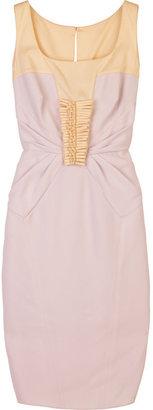Valentino Block-color twill dress