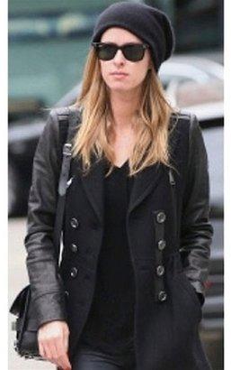 Plush Barca Slouchy Hat in Black