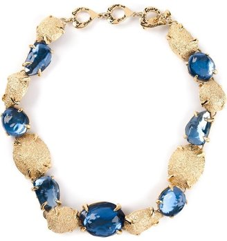 Saint Laurent Vintage crystal embellished necklace