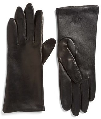 Women's Fownes Brothers 'Basic Tech' Cashmere Lined Leather Gloves $96 thestylecure.com