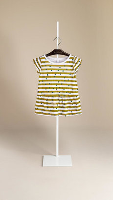 Burberry Graphic Dot Stripe Print T-Shirt