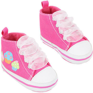 Gerber Girls' High-Top Sneakers with Cupcake Print - Pink (Infant)